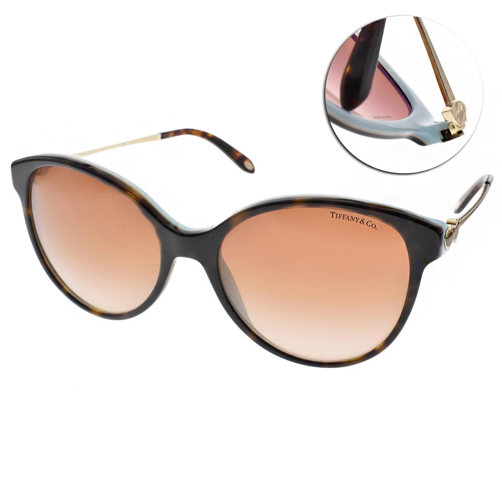 Tiffany&CO.太陽眼鏡 典藏心型貓眼款/琥珀棕-金#TF4127 81343B