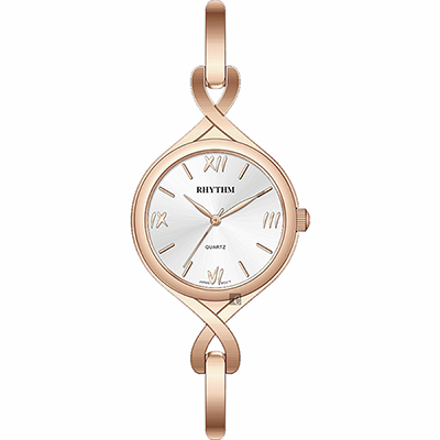 RHYTHM 日本麗聲 羅馬風尚手鍊女錶-玫瑰金/30mm