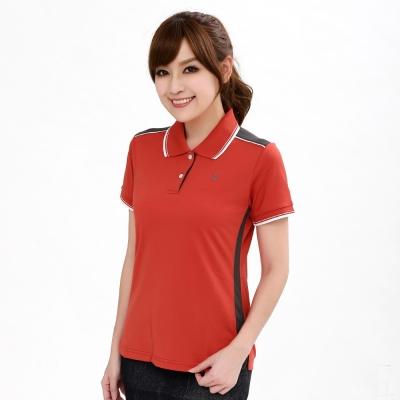 【遊遍天下】MIT台灣製女款氣質顯瘦吸濕排汗機能POLO衫SV056桔紅