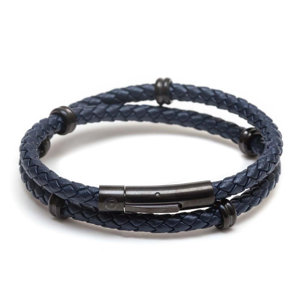 ZENGER  經典時尚皮繩系列-深藍
