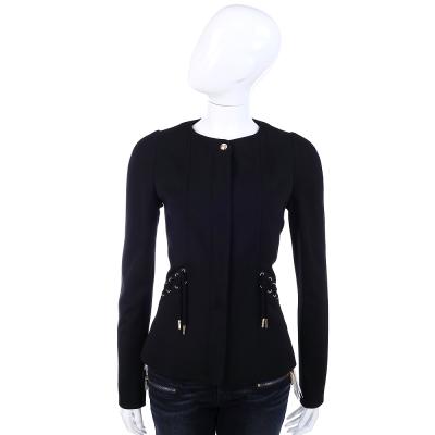 VERSACE 黑色綁帶設計造型外套
