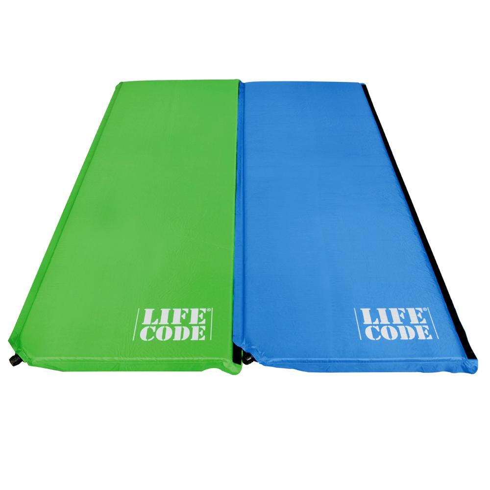 LIFECODE《馬卡龍》雙面可用自動充氣睡墊-厚3cm (4入組)