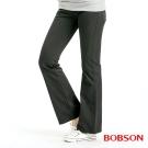 BOBSON 女款混紡毛料小喇叭褲(黑88)
