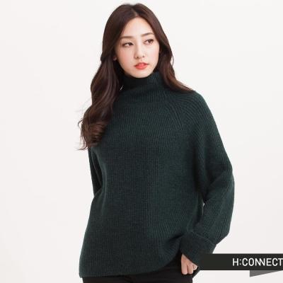 H-CONNECT-韓國品牌-女裝-羊毛混紡後開衩