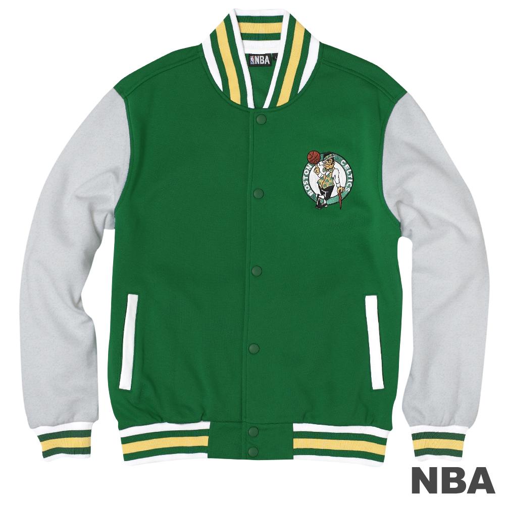 NBA-波士頓塞爾提克隊LOGO針織外套-深綠(男)