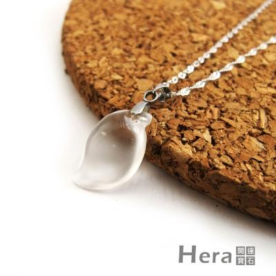 Hera頂級冰種水沬玉水滴項鍊