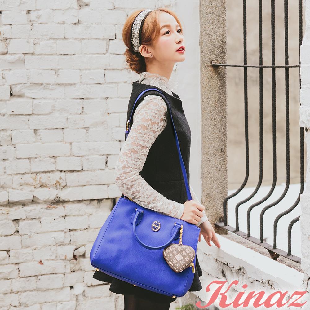 KINAZ -Dizzying糖果色天空系列~繽紛奢華兩用包-克萊因藍