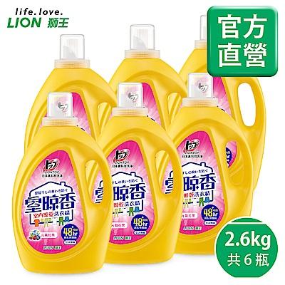 日本獅王LION 室晾香室內晾乾洗衣精 元氣花果 2.6kgx6(箱購)