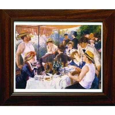 開運陶源【船上的午宴】雷諾瓦Renoir名畫小幅