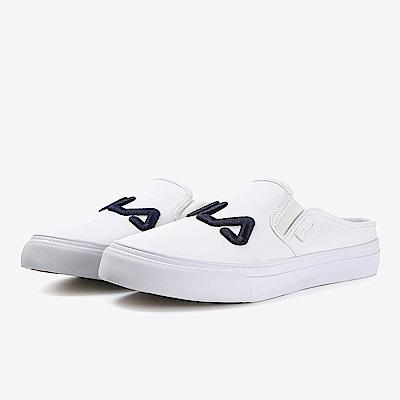 FILA 女款KICKS MULE帆布鞋-白5-C111S-100