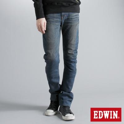 EDWIN-極限悍將-E-F-ZERO伸縮中直筒牛仔褲-男-拔洗藍