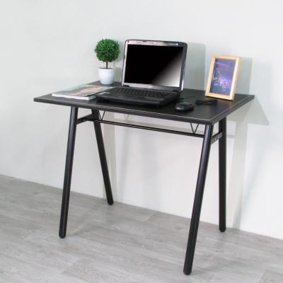 Amos-環保粗管90公分仿馬鞍A型桌面工作桌/書桌-寬90x深60x高75cm
