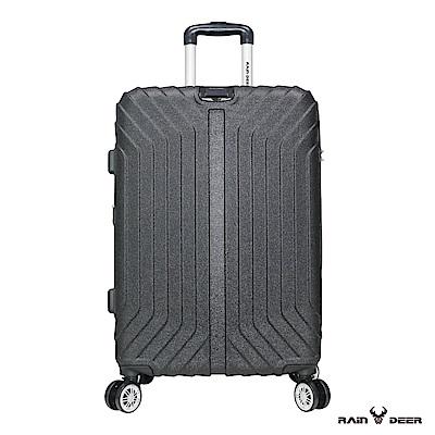 RAIN DEER 創世紀28吋耐磨防刮電子紋行李箱-礦物黑
