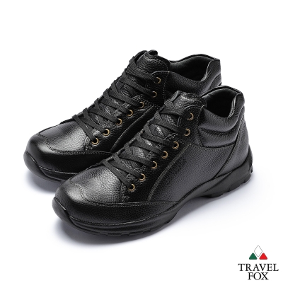 TRAVEL FOX(男) 都市舒適中筒休閒鞋-黑