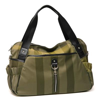 ANGIMI SHOP 肩背斜背超夯格紋兩用包-綠格