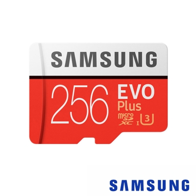 三星SAMSUNG 256G 100MB/s EVO Plus U3 microSDXC記憶卡