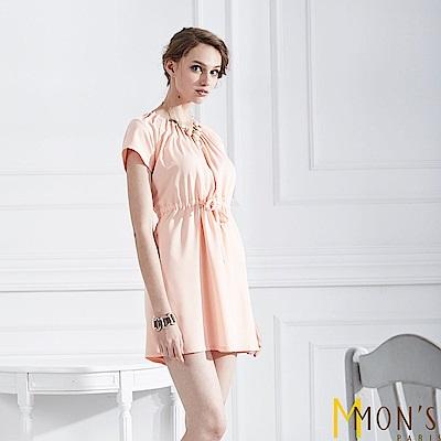 MONS 輕漾抓褶綁帶洋裝