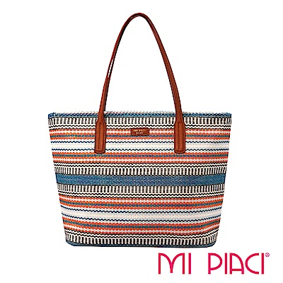 MI PIACI-KATE系列-編織托特包-1289965-湖水綠