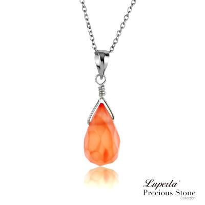 大東山珠寶 紅瑪瑙項鍊 輕甜菊紅