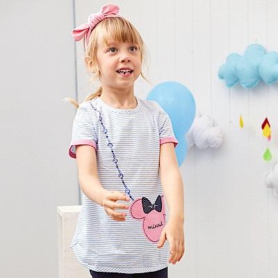 Disney 米妮系列俏皮甜心條紋長上衣 (2色可選)
