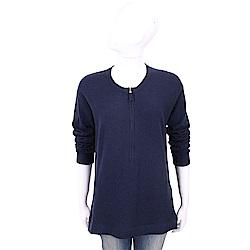 ALLUDE 喀什米爾衫藍色拉鍊細節針織羊毛衫