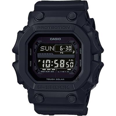 CASIO 卡西歐 G-SHOCK 超級耐衝擊電子錶-黑/55.5mm