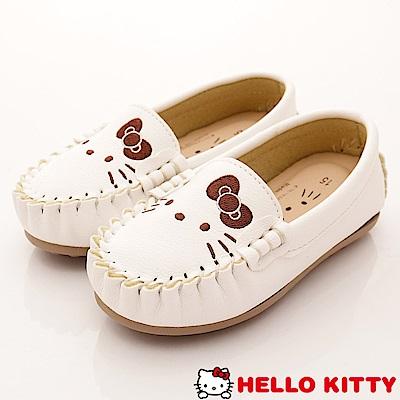 HelloKitty童鞋 休閒豆豆娃娃鞋款 SE18628白(中小童段)
