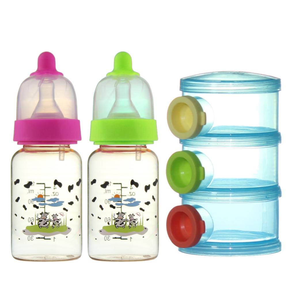 【貝喜力克】防脹氣PPSU直圓型奶瓶特惠組