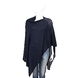 ALLUDE 喀什米爾深藍色羊毛罩衫