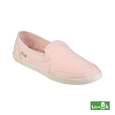 SANUK 復古水洗帆布休閒鞋-女款(粉色)
