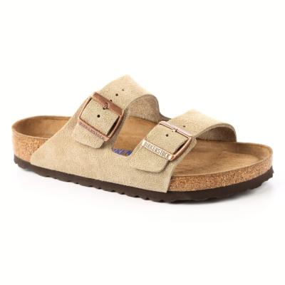 勃肯BIRKENSTOCK951301。亞利桑那經典二條拖鞋(米褐色)