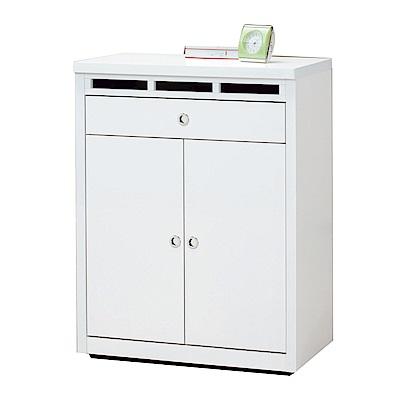 品家居 萊茲2.6尺二門單抽鞋櫃(二色可選)-79.4x40.6x102.1cm免組