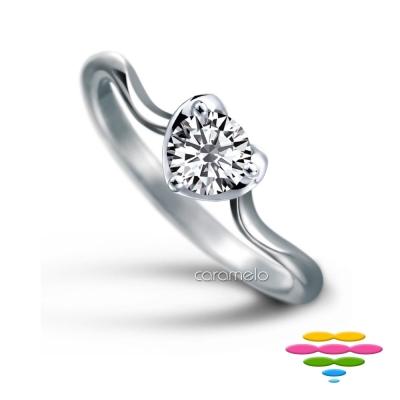 彩糖鑽工坊 19分鑽石戒指 愛心鑽戒 心動系列