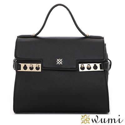 WuMi-無米-伊莎貝十字紋嬌巧包-貴族黑