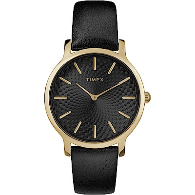 TIMEX 天美時 風格系列 時尚手錶-黑/34mm
