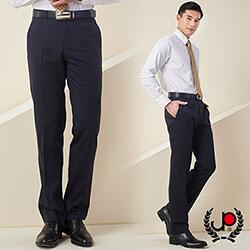 極品西服-雅致品味直條毛料平面西褲_深藍(BS602-1)
