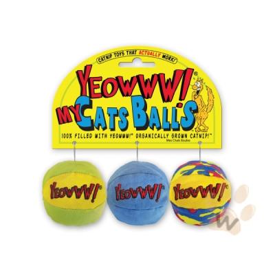 Yeowww! 天然有機波波貓草球玩具(1套3顆入)