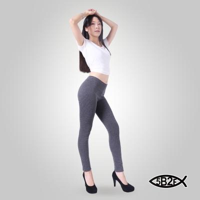 5B2F-五餅二魚-加厚磨毛-粗細紋彈力內搭褲