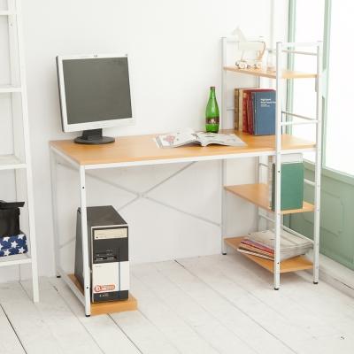 澄境 日系層架多用途工作桌(120x48x72cm)+送同色主機架-DIY