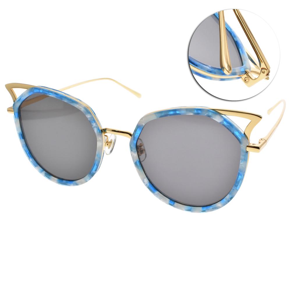 STEPHANE CHRISTIAN太陽眼鏡 貓眼造型款/琥珀藍金#PATAGON T55