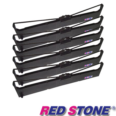 RED STONE for SEIKOSHA LP660+/FB500黑色色帶組(1組6入)