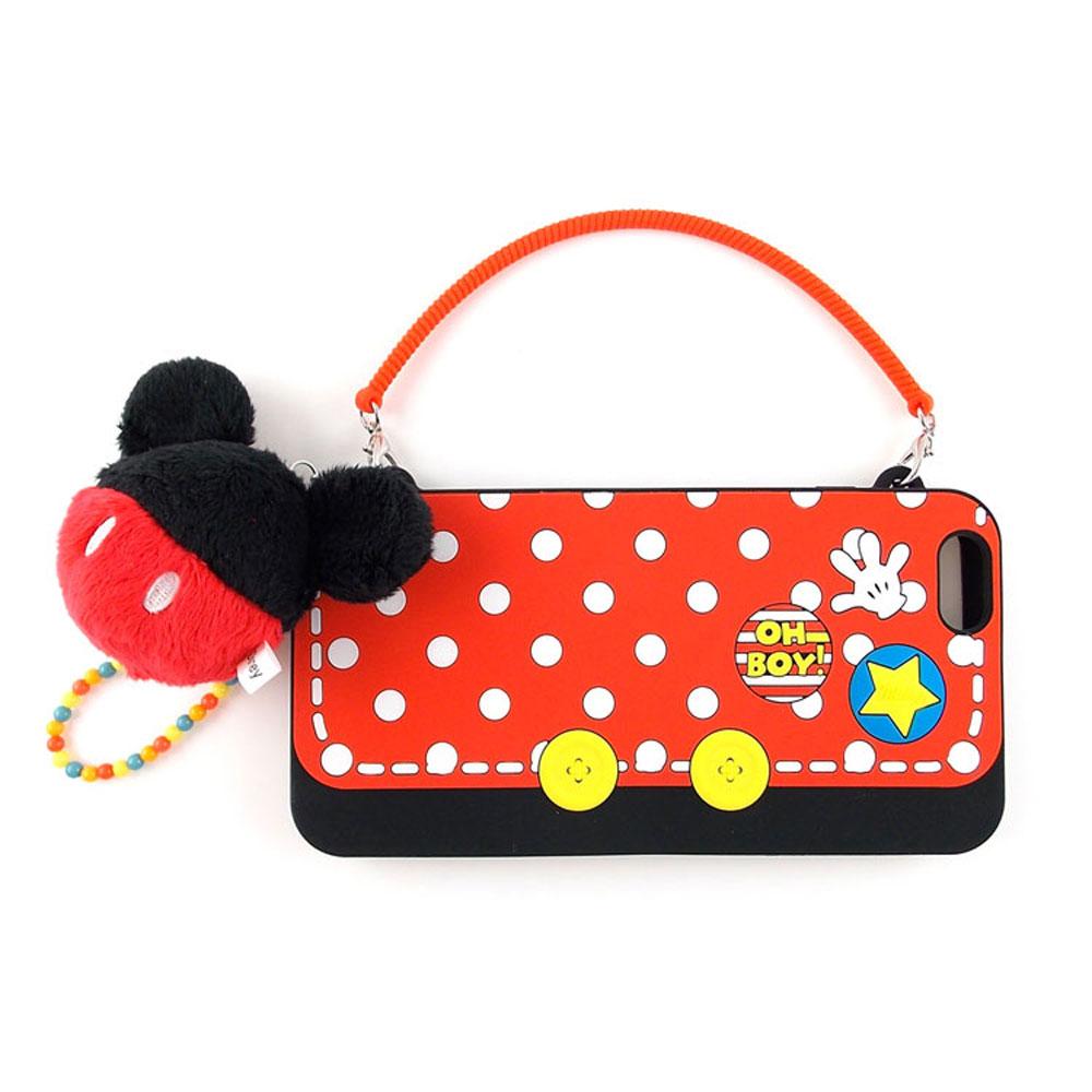 Disney iphone 6 plus / 6s plus 手提包造型毛球吊飾手機殼