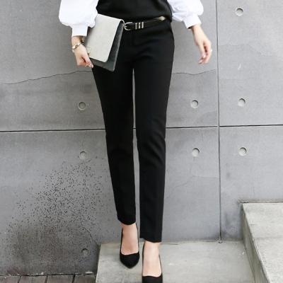正韓 立體摺線鬆緊腰西裝褲 (共二色)-N.C21