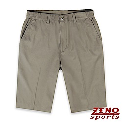 ZENO 萊卡彈性透氣機能短褲‧褐色M-3XL
