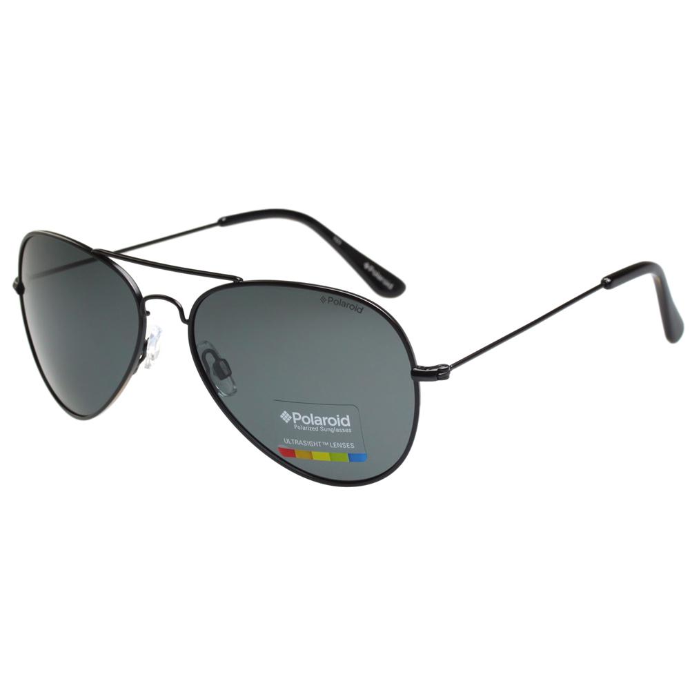 Polaroid 寶麗來-偏光太陽眼鏡(黑色金色)
