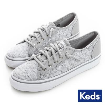 Keds 百變印花綁帶休閒鞋(For Kids)-灰