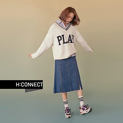 H:CONNECT 韓國品牌 女裝 - PLAY棉針織毛衣- 白
