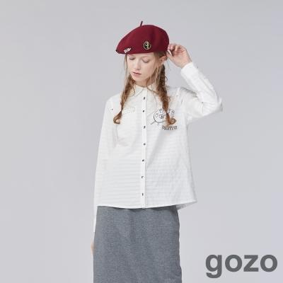 gozo 畫家圖案格紋造型襯衫上衣 (二色)
