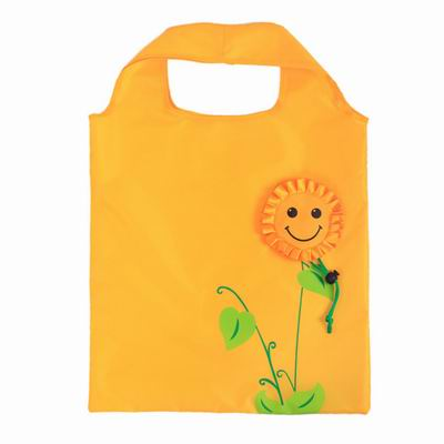 iSFun 向陽花笑容 束口環保輕便購物袋 2入