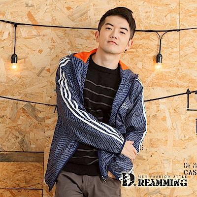 Dreamming 美系混色透氣網布休閒連帽運動風衣外套-共二色